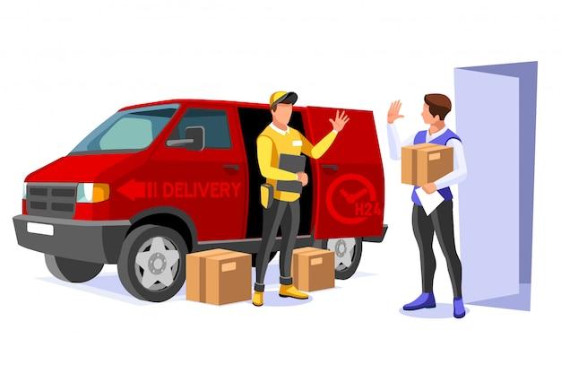 Ilustração de entrega comercial Vetor Premium