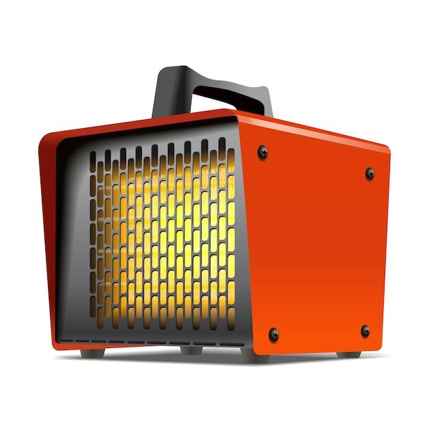 Ilustração de equipamentos de clima da máquina de aquecedor. Vetor Premium