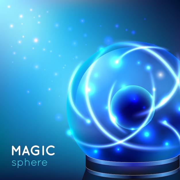 Ilustração de esfera mágica Vetor grátis