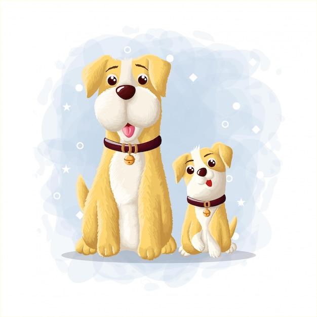 Ilustração de esquimó de cachorro bonito dos desenhos animados Vetor Premium