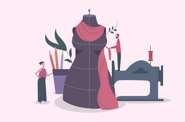 Ilustração de estilista desenhada à mão plana Vetor grátis