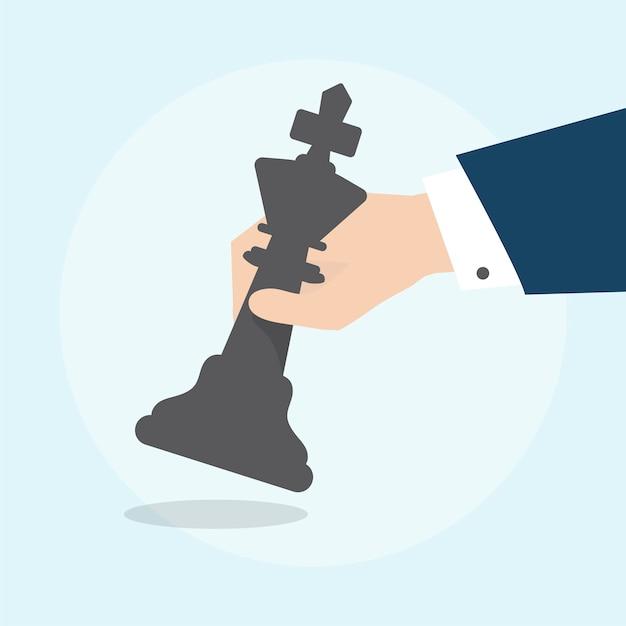 Ilustração, de, estratégia negócio, conceito Vetor grátis
