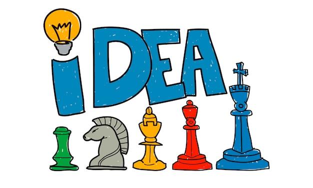 Ilustração, de, estratégia negócio Vetor grátis