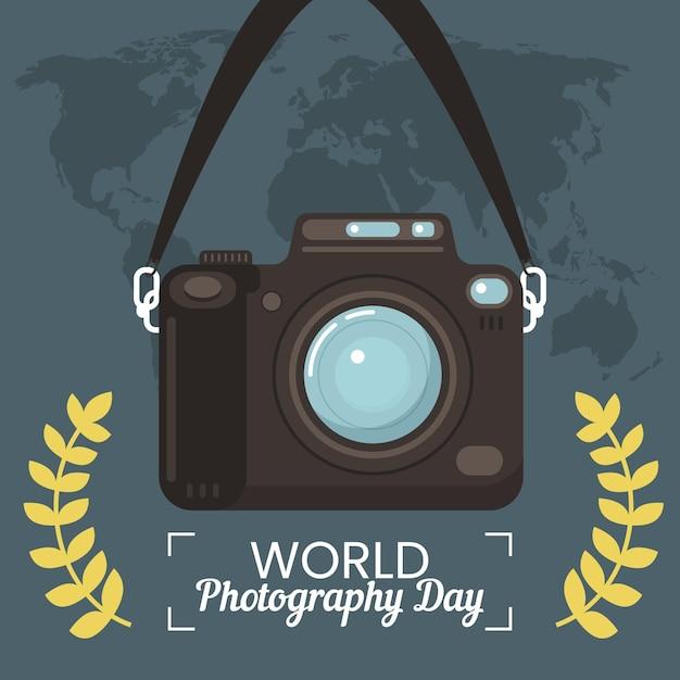 Ilustração de evento do dia mundial da fotografia Vetor grátis