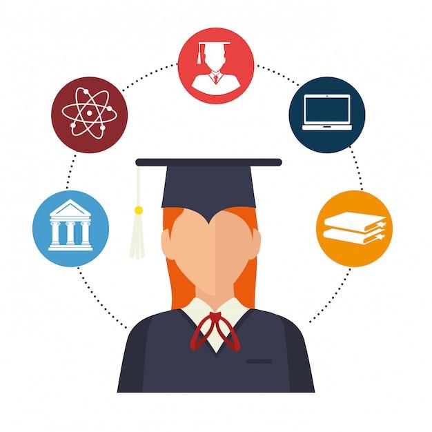 Ilustração de excelência acadêmica Vetor grátis