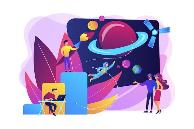 Ilustração de exploração espacial vr Vetor grátis