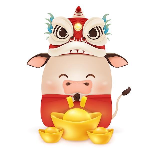 Ilustração de feliz ano novo chinês Vetor Premium