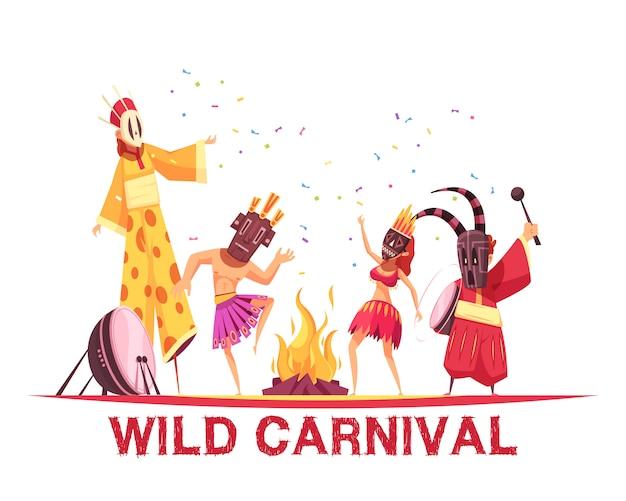 Ilustração de festa de carnaval Vetor grátis