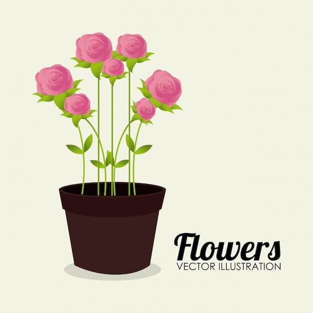 Ilustração de flor design bege Vetor grátis