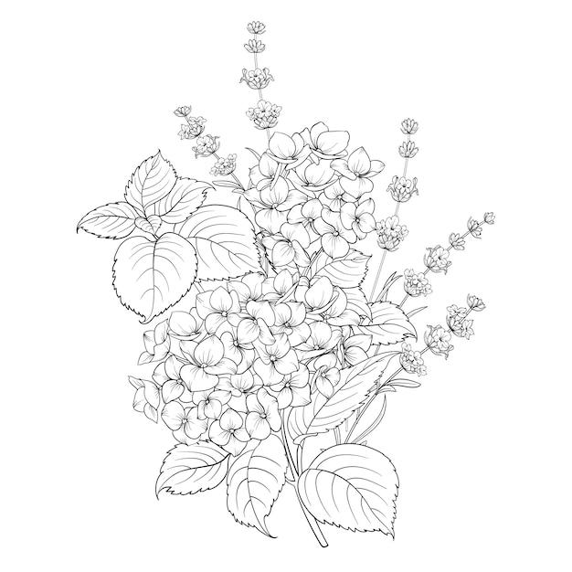 Ilustração de flores da primavera em branco Vetor Premium