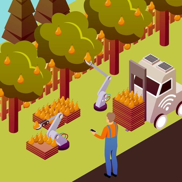 Ilustração de fruta robotizada Vetor grátis