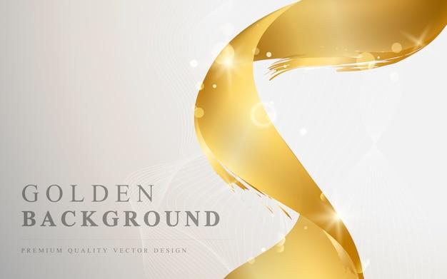 Ilustração de fundo abstrato de onda de ouro Vetor grátis