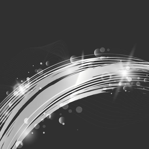 Ilustração de fundo abstrato onda prata Vetor grátis
