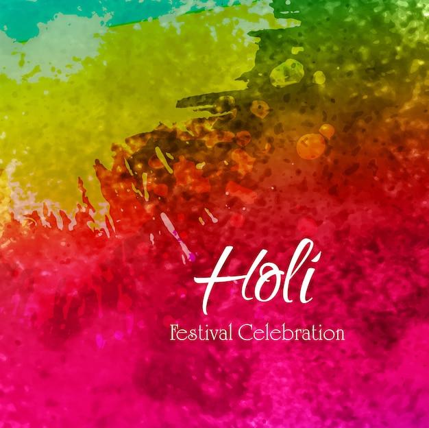 Ilustração de fundo colorido feliz holi Vetor grátis