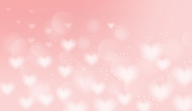 Ilustração de fundo corações rosa Vetor Premium