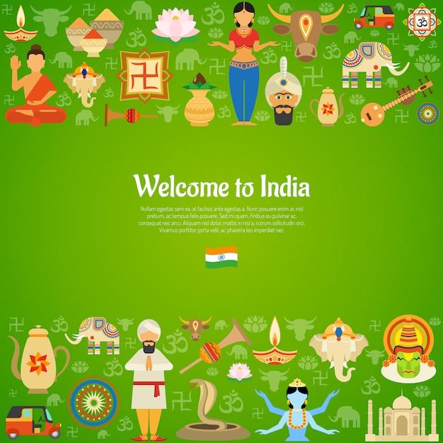 Ilustração de fundo da índia Vetor grátis