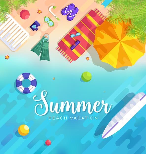 Ilustração de fundo do período de verão Vetor Premium