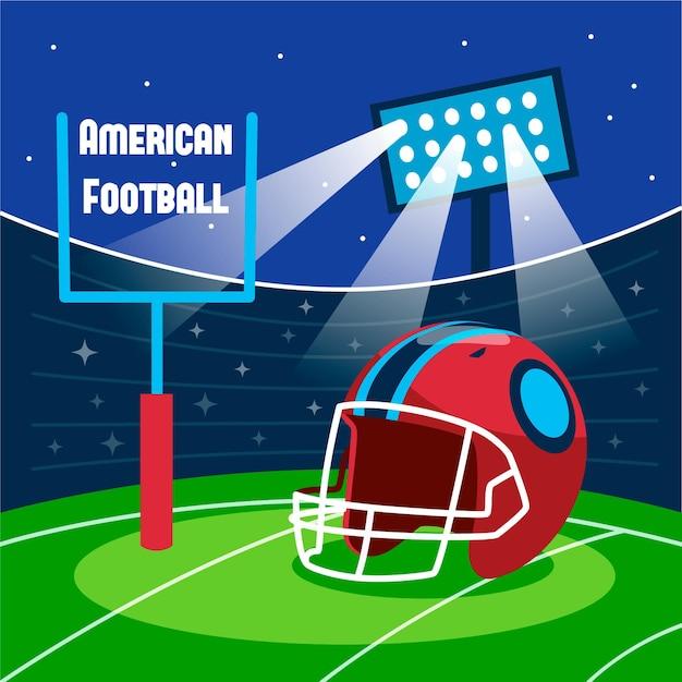 Ilustração de futebol americano Vetor Premium