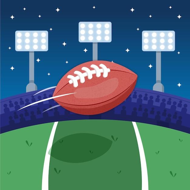 Ilustração de futebol americano Vetor grátis