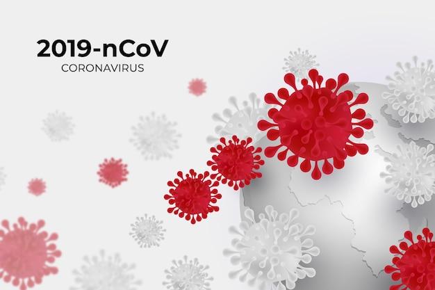 Ilustração de globo de coronavírus Vetor grátis