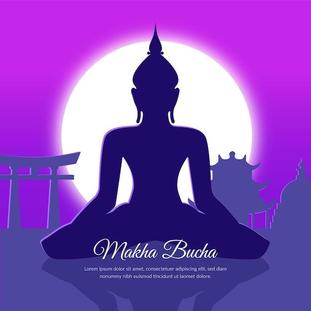 Ilustração de gradiente makha bucha day Vetor grátis