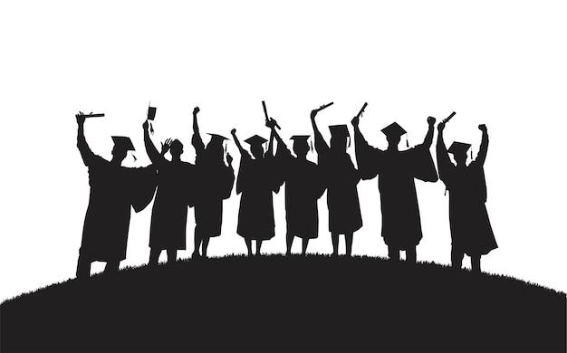 Ilustração de graduados universitários Vetor grátis
