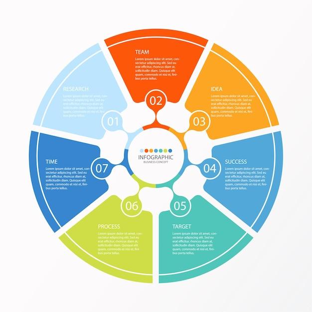 Ilustração de gráfico infográfico Vetor Premium