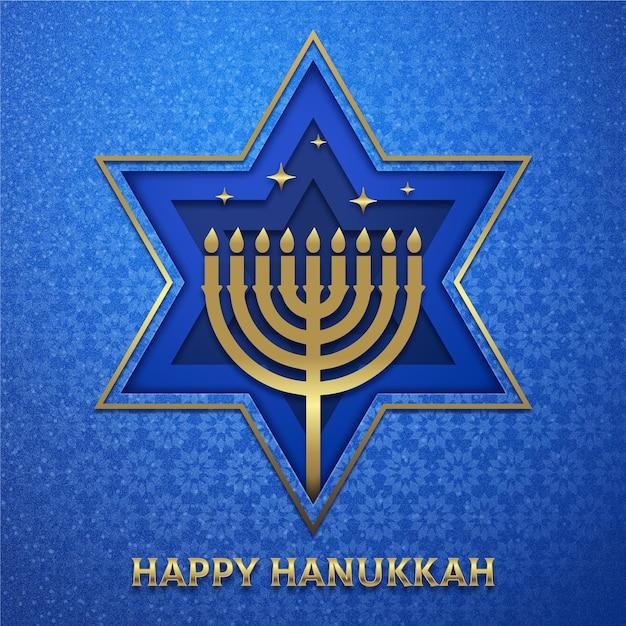 Ilustração de hanukkah em estilo jornal Vetor grátis