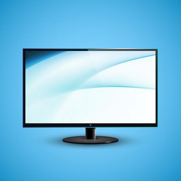 Ilustração de icd de tela plana de tv Vetor Premium