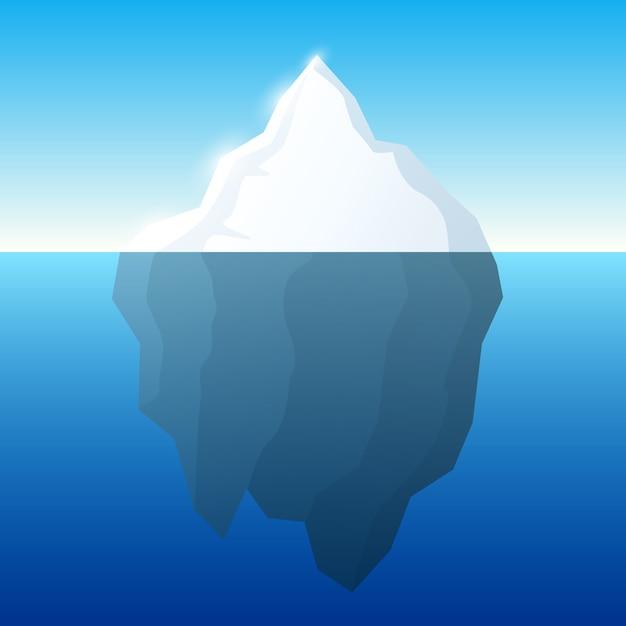 Ilustração de iceberg na água Vetor Premium