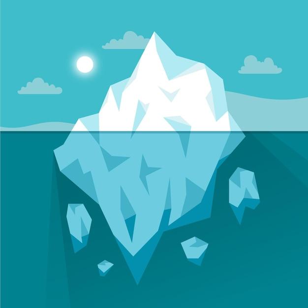 Ilustração de iceberg no oceano Vetor grátis