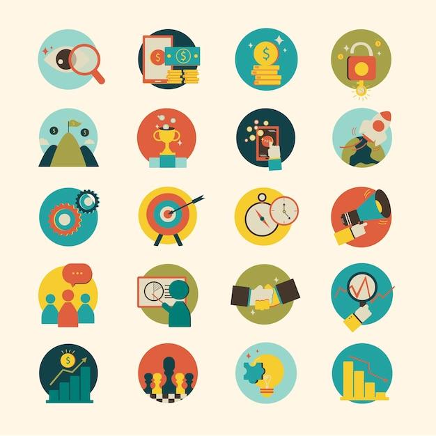 Ilustração, de, ícone negócio, isolado, experiência Vetor grátis
