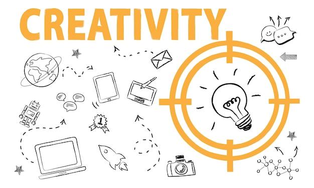 Ilustração de idéias de lâmpada Vetor grátis