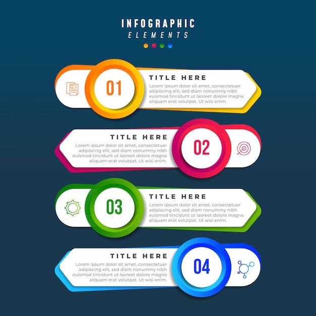 Ilustração de infográficos de negócios Vetor Premium