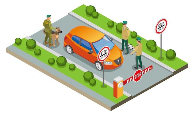 Ilustração de inspeção de fronteira Vetor grátis