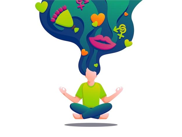 Ilustração de ioga Vetor Premium