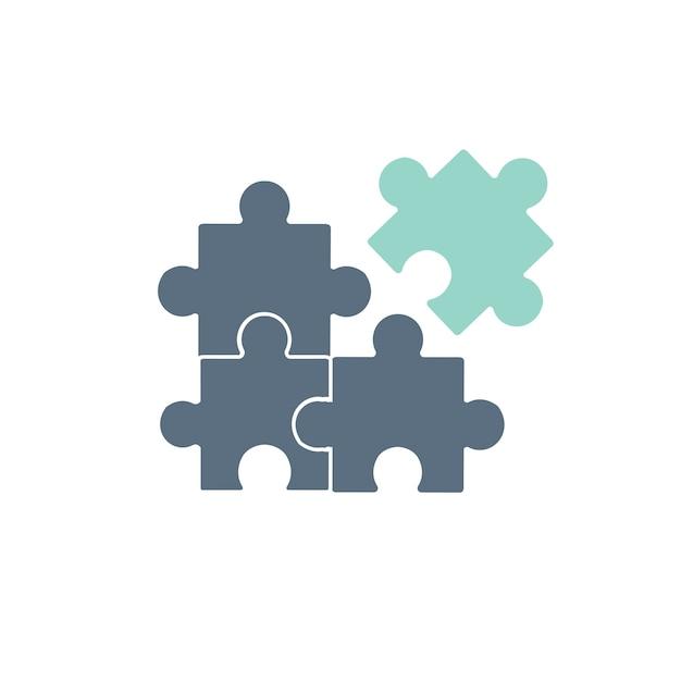 Ilustração, de, jigsaw, ícone Vetor grátis