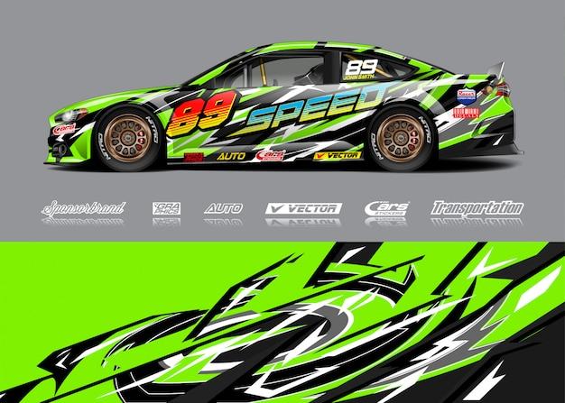 Ilustração de libré de carro de corrida Vetor Premium