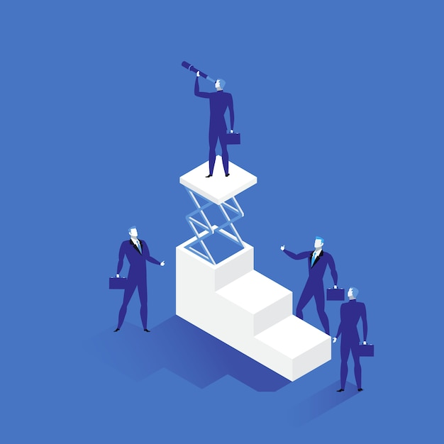 Ilustração de liderança em estilo simples Vetor Premium