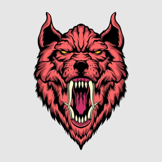 Ilustração de lobo assassino Vetor Premium