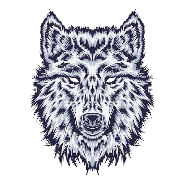 Ilustração de lobo Vetor Premium