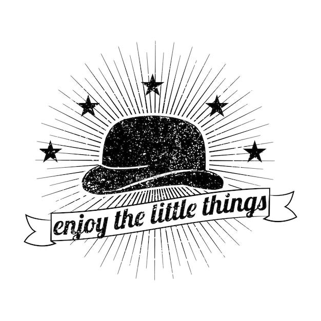 Ilustração de logotipo de chapéu de mens Vetor grátis