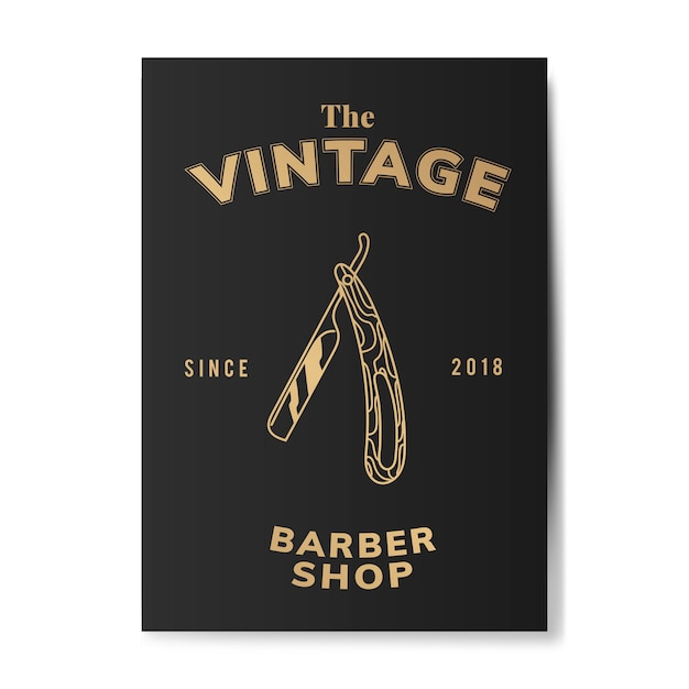 Ilustração de loja de barbeiro vintage Vetor grátis
