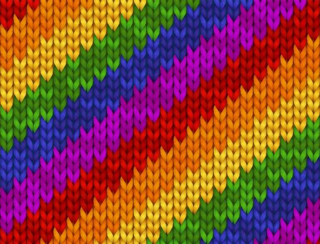 Ilustração de malha realista. textura de arco-íris, símbolo da comunidade lgbt de gays, lésbicas, bissexuais e transgêneros. bandeira do orgulho. teste padrão sem emenda para o fundo, papel de parede, impressão. Vetor Premium