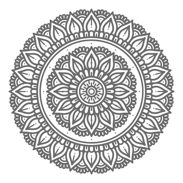 Ilustração de mandala de estilo de círculo para decoração Vetor Premium