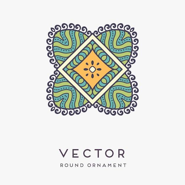 Ilustração de mandala decorativa mão desenhada Vetor grátis