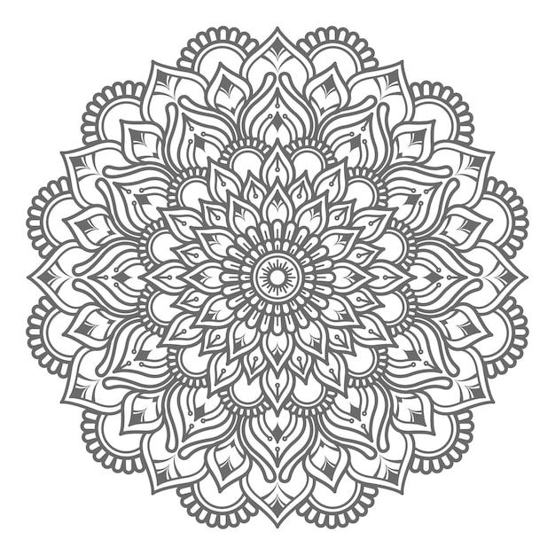 Ilustração de mandala desenhada à mão Vetor Premium