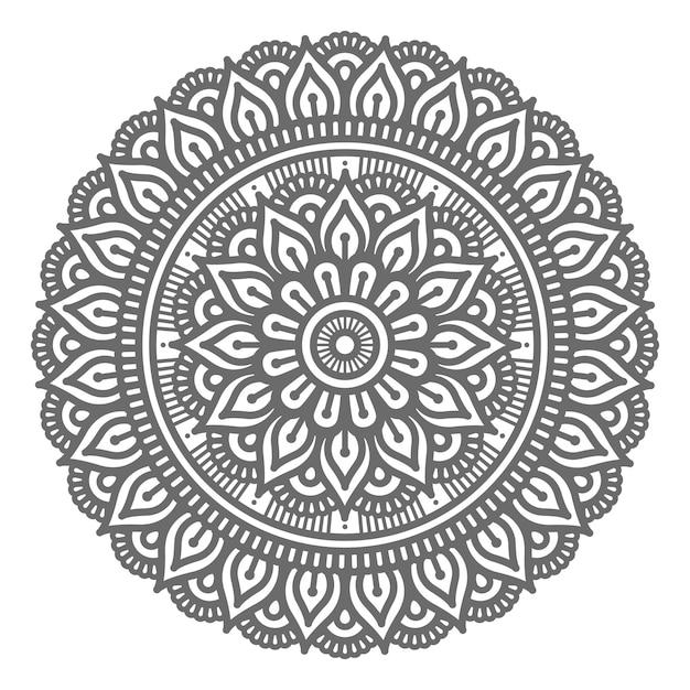 Ilustração de mandala em estilo circular para conceito abstrato e decorativo Vetor Premium