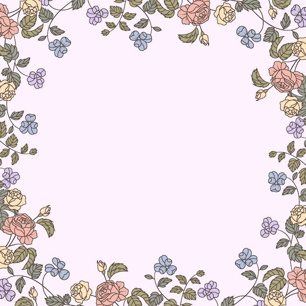 Ilustração de maquete floral botânica Vetor grátis