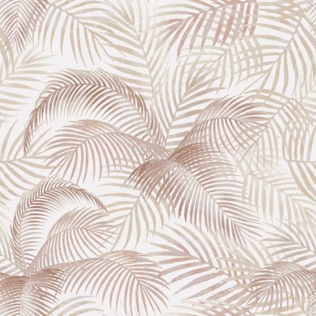 Ilustração de maquete padrão de folhas de palmeira Vetor grátis